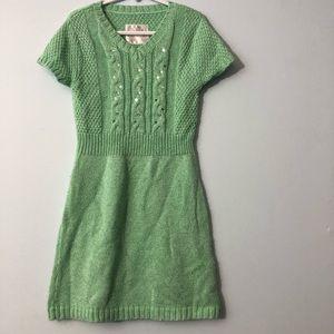 Mint knit dress girls size 8 justice
